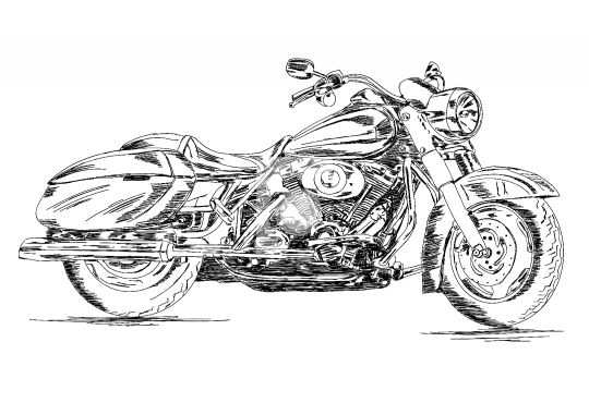 Detailed Motor Cycle / Bike Vector EPS Illustration