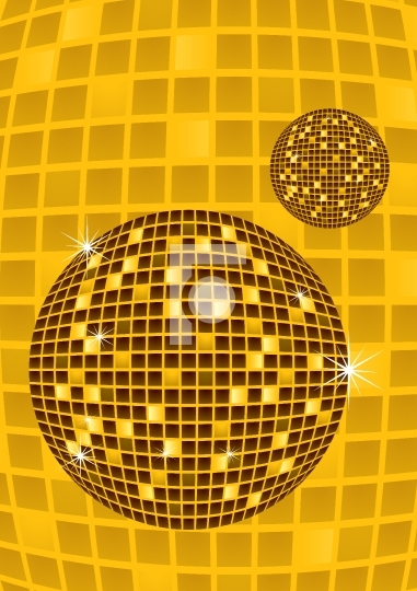 Disco party ball vector illustration
