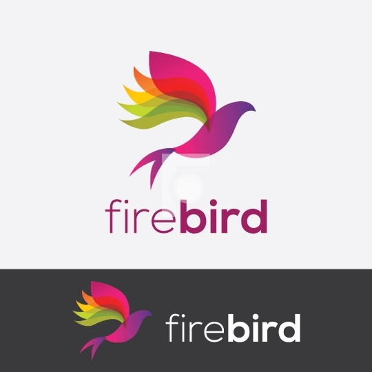 FireBird Abstract Bird Logo Design For Startups