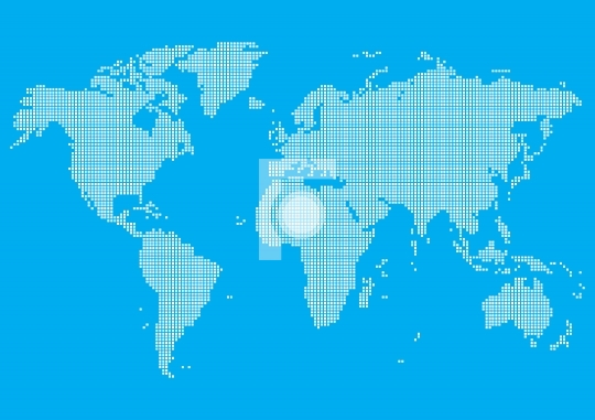 Free World Map Vector Illustration -EPS and JPG formats