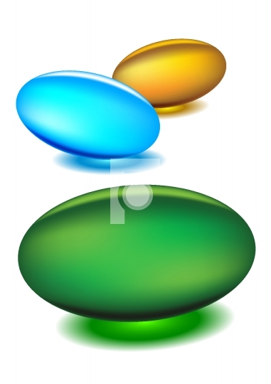 Gel medicine capsules - vector illustrations