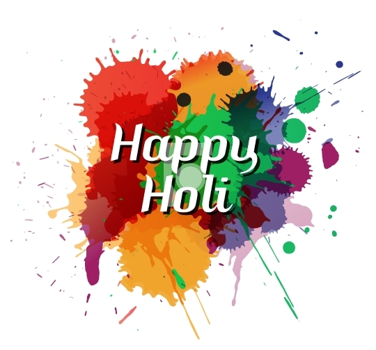 Happy Holi Free Vector Design - High Resolution EPS and JPG