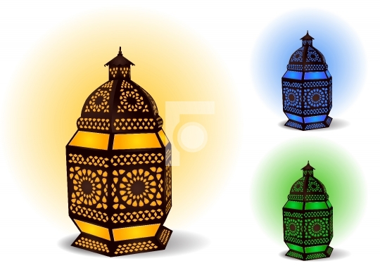 Islamic lamp for Ramadan / Eid Celebrations - Vector Illustratio