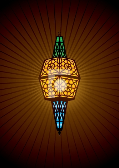 islamic lamp vector illustration