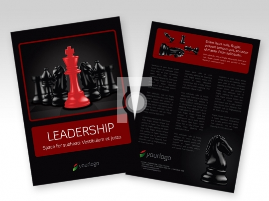 Leadership Print Ready Template A4 Size - Layered EPS Format
