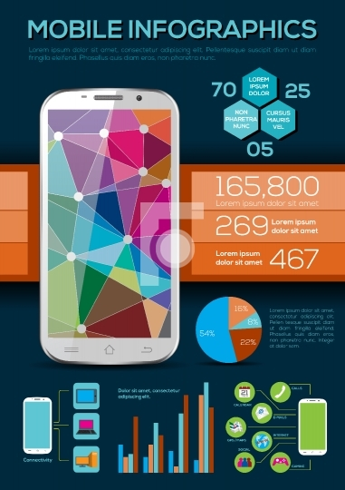 Mobile Infographic - Vector Illustration
