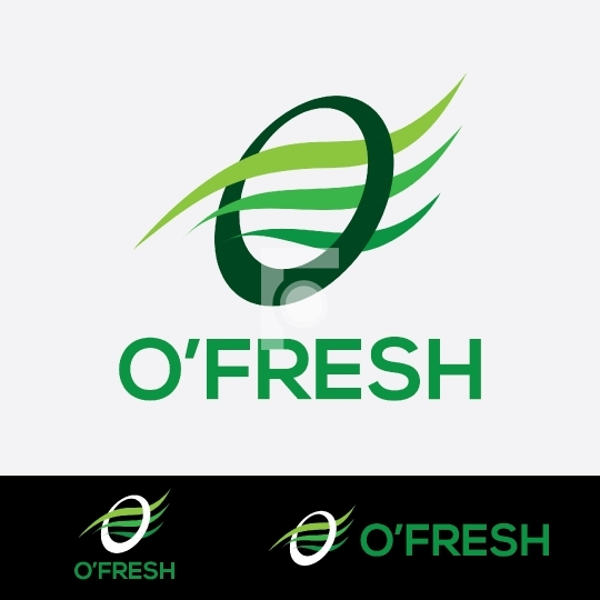 O'Fresh Free Vector Company Logo Design Template