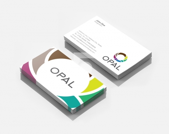 Opal Logo Design & Business Card Template for Startups