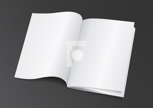 Open White Blank Brochure Magazine for Mock up - Vector Illustra