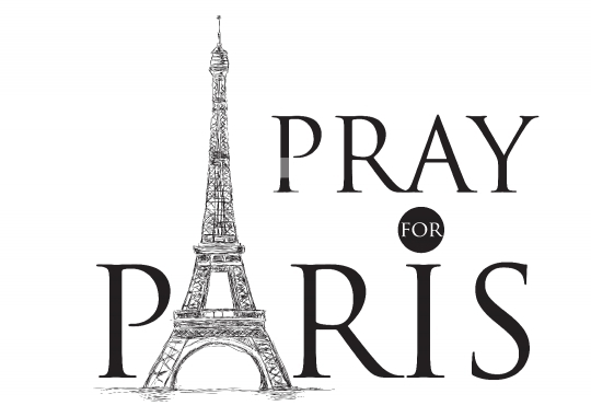 ParisAttacks - Pray for Paris Free Vector Image