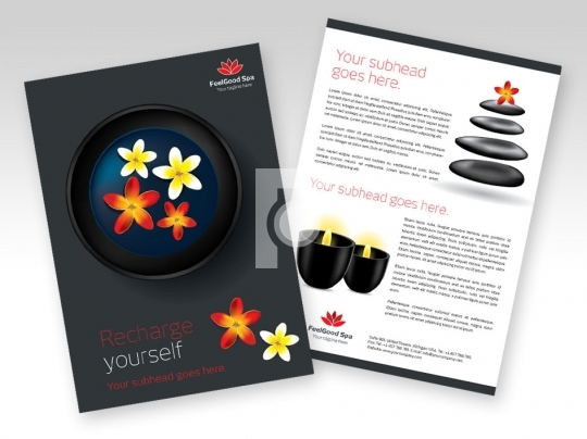 Print Ready Template A4 Size - Spa Flyer