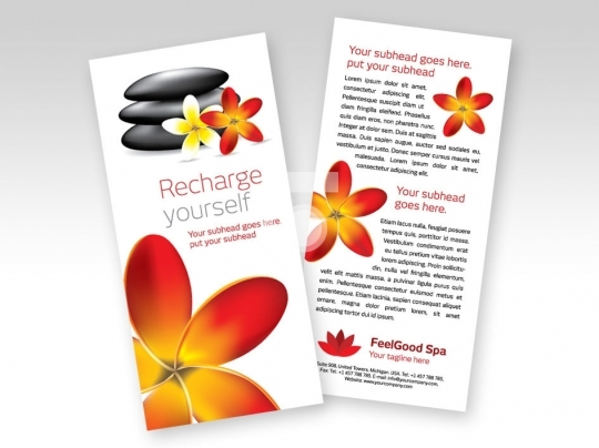 Print Ready Template DL Size - Spa Flyer