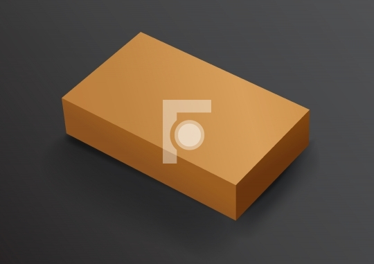 Recycle Blank Card Board Box for Mockup FREE Vector Illustration