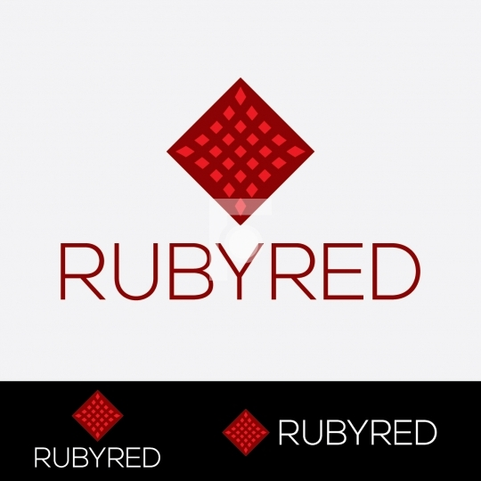Ruby Red Logo - Readymade Company Logo Design Template