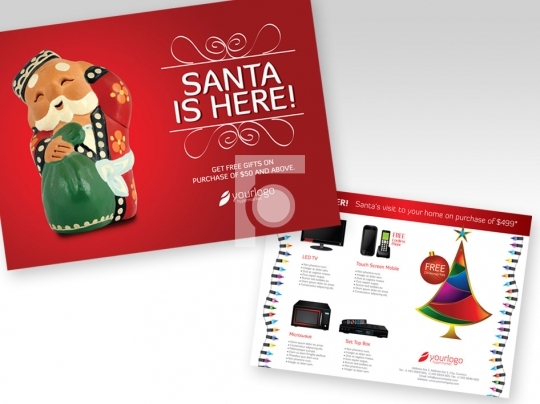 Santa Claus Festive Flyer - Print Ready High Res Template A4 Siz