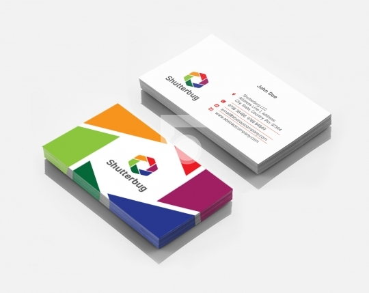 Shutterbug Photography Business Card Template in AI and PDF