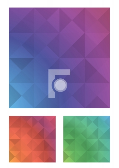 Three Polygon Backgrounds Free Vector Designs
