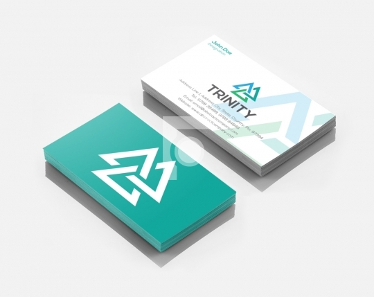 Trinity Logo Design & Business Card Template for Startups