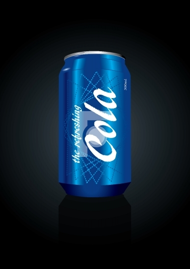 Vector Illustration of a cola can