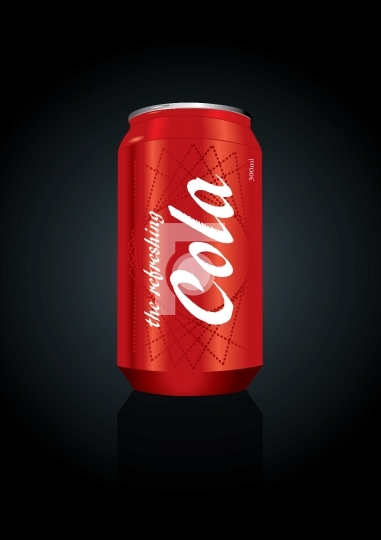 Vector illustration of cola can