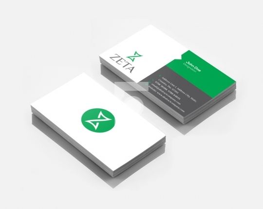 Z Letter Zeta Logo Design & Business Card Template for Startups