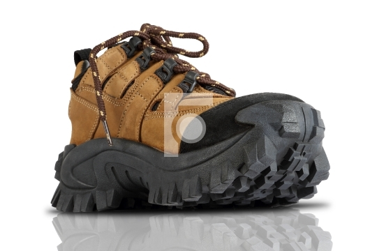 6a1094cc54d Tough Trekking Shoes Isolated on White Background